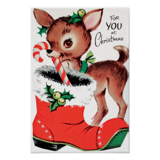 クリスマスのトナカイのあなたのため ポスター