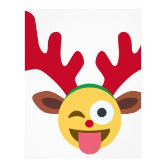 クリスマスのトナカイのまばたきのemoji レターヘッド