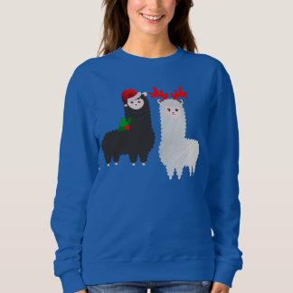 クリスマスのトナカイのアルパカ スウェットシャツ