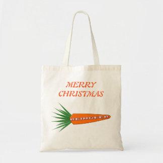 クリスマスのトナカイのカスタムなショッピングのためのにんじん トートバッグ
