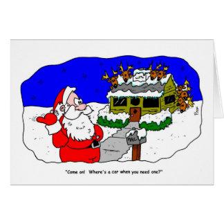 クリスマスのトナカイのゲーム カード