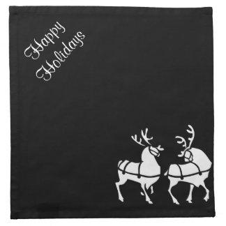 クリスマスのトナカイのナプキンのカスタムな休日の装飾 ナプキンクロス