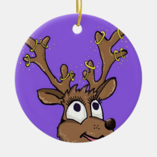クリスマスのトナカイの木の装飾 セラミックオーナメント