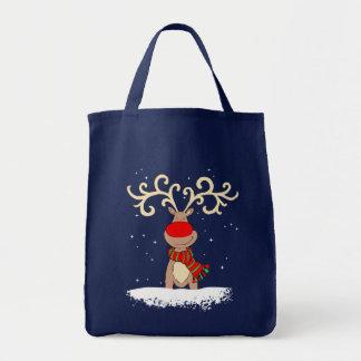 クリスマスのトナカイの買い物袋 トートバッグ