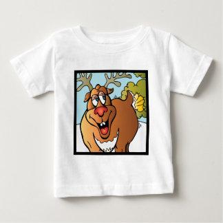クリスマスのトナカイの12屁 ベビーTシャツ