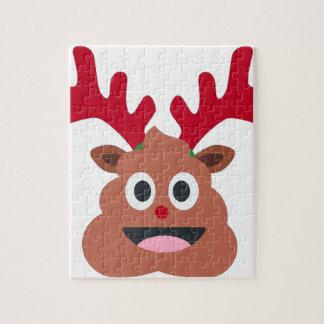 クリスマスのトナカイのpooのemoji ジグソーパズル
