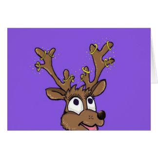 クリスマスのトナカイカード カード
