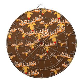 クリスマスのトナカイパターン ダーツボード