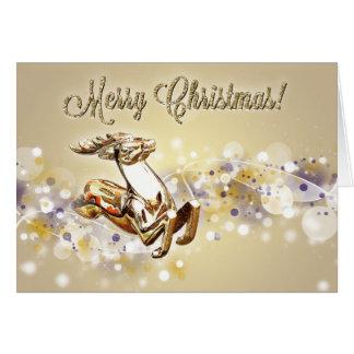 クリスマスのトナカイ カード