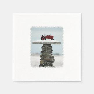 クリスマスのトラクターの紙ナプキン スタンダードカクテルナプキン