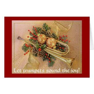 クリスマスのトランペットは、トランペットが喜びを鳴るようにしました! カード
