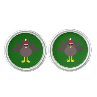 クリスマスのトルコのかわいいカフスボタン カフスボタン