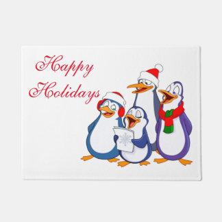 クリスマスのドアのマットメリーなペンギン ドアマット