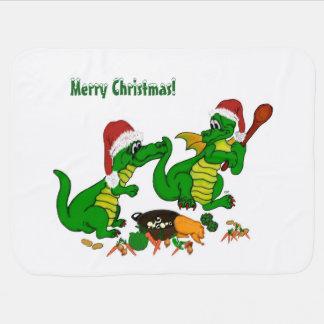 クリスマスのドラゴン-今日私は調理します ベビー ブランケット