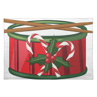 クリスマスのドラム ランチョンマット