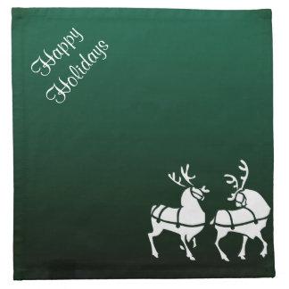 クリスマスのナプキンの名前入りな緑の休日の装飾 ナプキンクロス