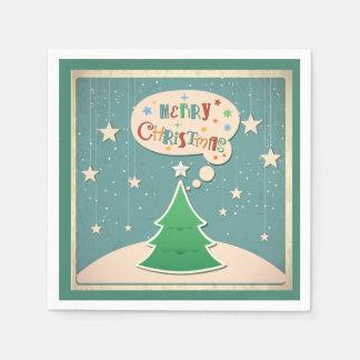 クリスマスのナプキン-クリスマスツリー スタンダードカクテルナプキン