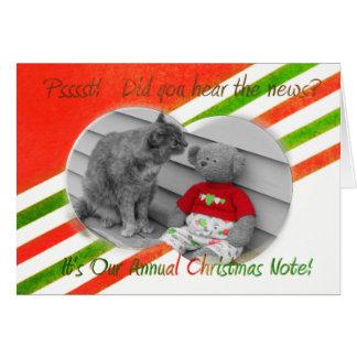 クリスマスのニュース カード