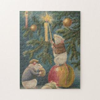 クリスマスのネズミの十字のステッチのジグソーパズル ジグソーパズル