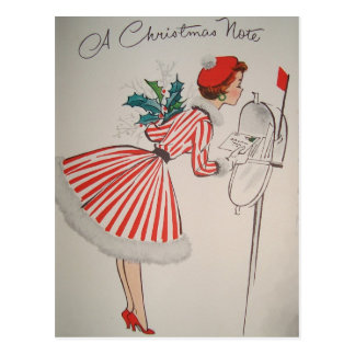 クリスマスのノートのヴィンテージのレトロの郵便はがき ポストカード