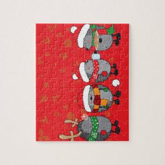 クリスマスのハリネズミ ジグソーパズル