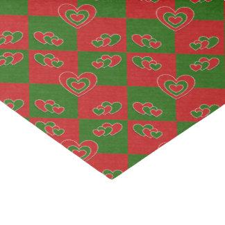 クリスマスのハートのティッシュペーパー 薄葉紙