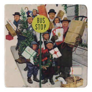 クリスマスのバス停 トリベット