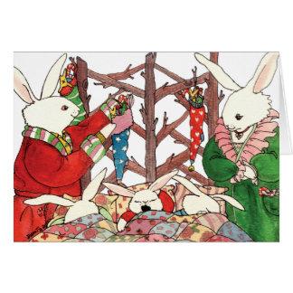 クリスマスのバニー家族 カード