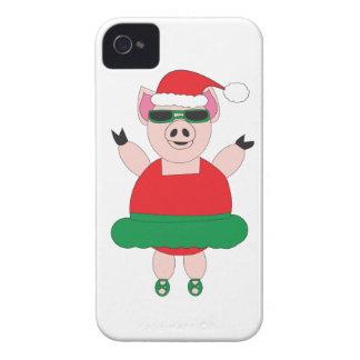 クリスマスのバレエのブタのiphoneの場合 Case-Mate iPhone 4 ケース