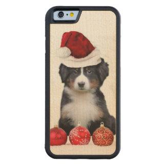 クリスマスのバーニーズ・マウンテン・ドッグ CarvedメープルiPhone 6バンパーケース