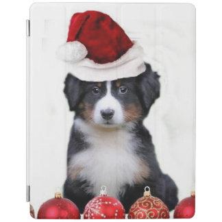 クリスマスのバーニーズ・マウンテン・ドッグ iPadスマートカバー