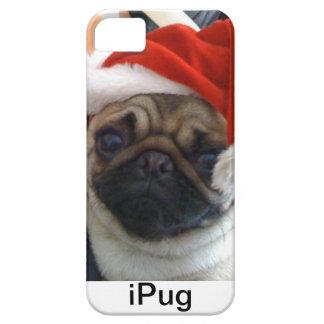 クリスマスのパグのiPhoneの場合 iPhone SE/5/5s ケース