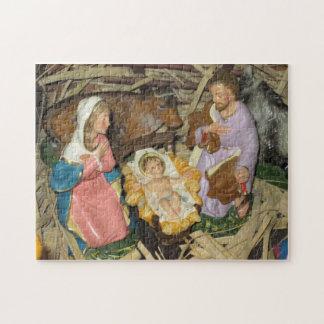 クリスマスのパズルの出生のヴィンテージの飼い葉桶の託児所 ジグソーパズル
