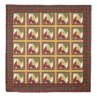 クリスマスのパッチワークの模造のなキルトのステッチ 掛け布団カバー