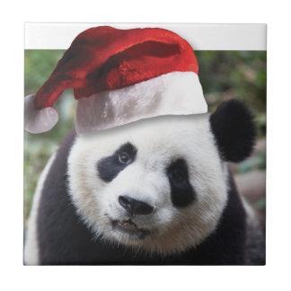 クリスマスのパンダくま タイル
