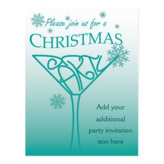 クリスマスのパーティの招待状のデザイン ポストカード