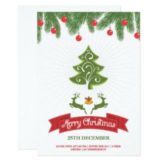 クリスマスのパーティの招待状のフライヤ カード