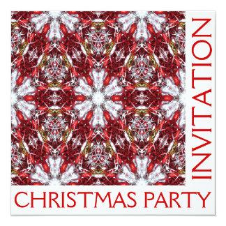 クリスマスのパーティの招待状カード-ブランク カード