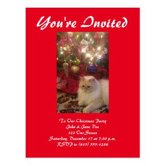 クリスマスのパーティの招待状 ポストカード