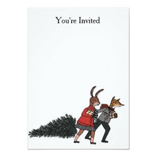 クリスマスのパーティの招待状 12.7 X 17.8 インビテーションカード