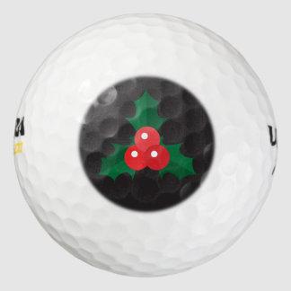 クリスマスのヒイラギ及び果実のゴルフ・ボール ゴルフボール