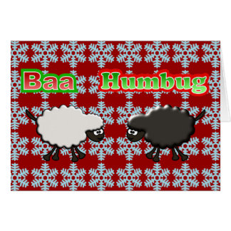 クリスマスのヒツジの羊の鳴き声のばかばかしいデザイン カード