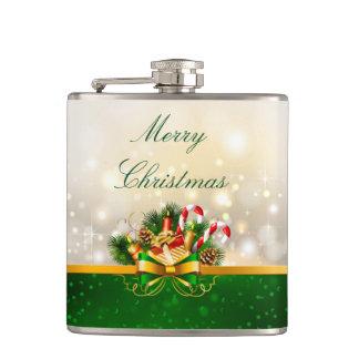クリスマスのビニールの包まれたなフラスコか蝋燭 フラスク