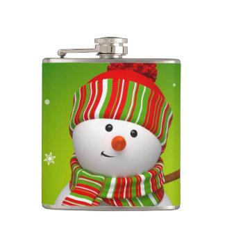 クリスマスのビニールの包まれたなフラスコか雪だるま フラスク