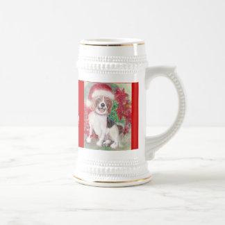 クリスマスのビーグル犬ステイン ビールジョッキ