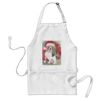 クリスマスのビーグル犬 スタンダードエプロン