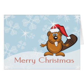 クリスマスのビーバー カード