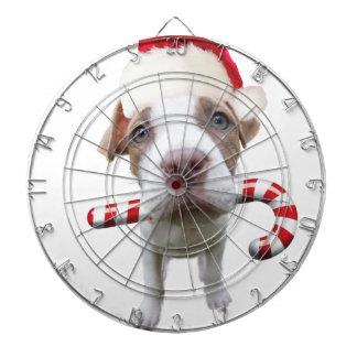 クリスマスのピットブル-サンタのピットブル-サンタクロース犬 ダーツボード