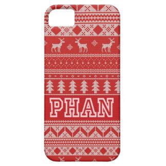 クリスマスのファンパターン iPhone SE/5/5s ケース