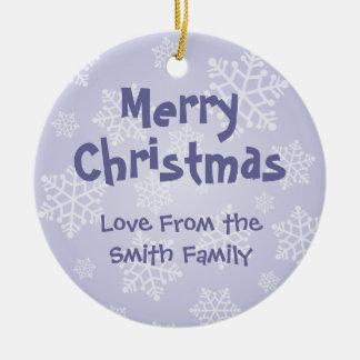 クリスマスのフェレット(あなたのメッセージを加えて下さい) セラミックオーナメント